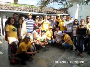 Parte de las personas que realizaron los operativos en Sucre y Zamora.