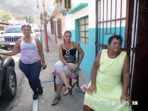 María, Mayerling y Abilia denunciaron las necesidades del sector